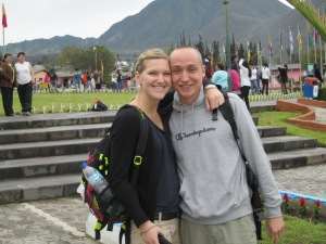 Swiss couple at Mitad del Mundo