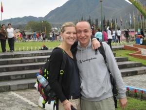 Swiss couple at Mitad del Mundo