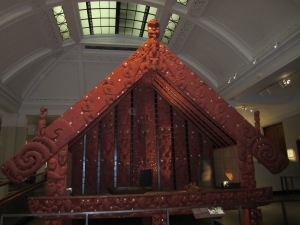 Sacred Maori tribal community meeting place (shoes are forbidden inside)