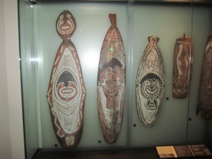 Maori shields used in battle