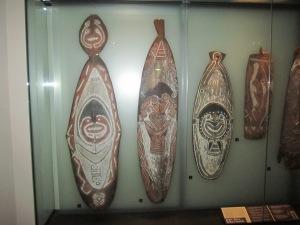 Maori shields used in battle
