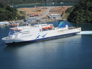 Ferry I used to cross from North island to South Island bringing more people and cars to Picton dock