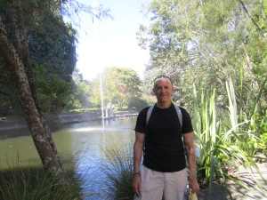 Bob took this picture of me before we had lunch at a park in Nelson