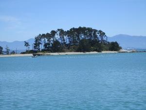 Island off of Nelson's coast