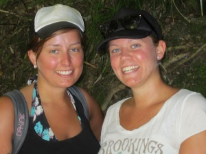 Anja and Francesca, two Austrian young ladies back packing in New Zealand.