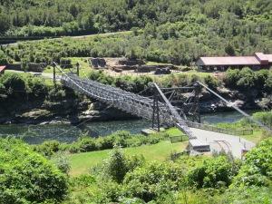 Box girder suspension footbridge.
