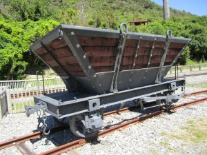 Rail conveyance for coal ore.