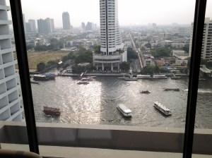 River that runs through Bangkok. View from my room.