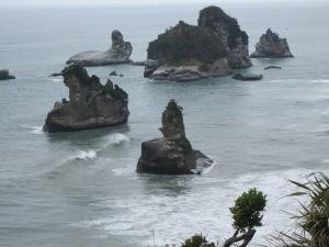 Paparoa National Park coastal road has breathtaking sights like this.