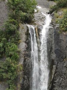 Close up of falls.