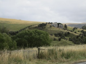 Rolling hills were part of the scenery toward my destination of Christchurch.