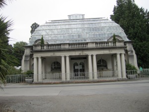 Conservatory that was closed due to earthquake damage.