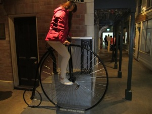 Old time bicycle.