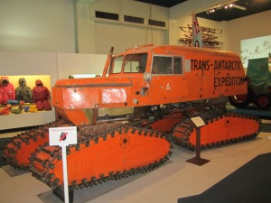 Tractor type vehicle used for South Pole exploration.
