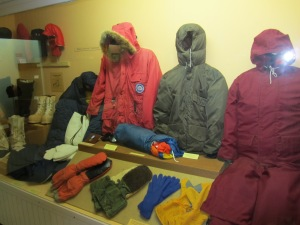 Type of South Pole gear worn in 1960s.