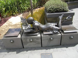Metal art sculpture.
