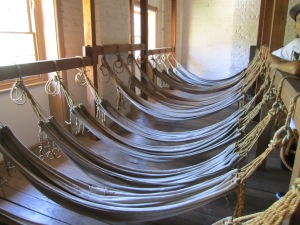 I went to this museaum called the Convict Barracks, a World Heritage Site. Quite an interesting tour. In a barracks built for 750 convicts (which I found appalling), the British government actually slept over 1400 convicts. The hammocks you see here is not an accurate depiction of how many slept in this room.