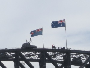 Top of the Sydney Harbor Bridge.