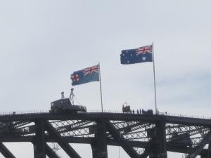 Top of the Sydney Harbor Bridge.
