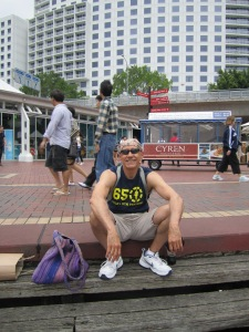 Me taking a break at Darling Harbour.