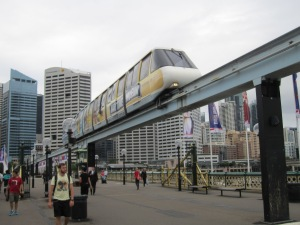 Monorail at Darling Harbour.