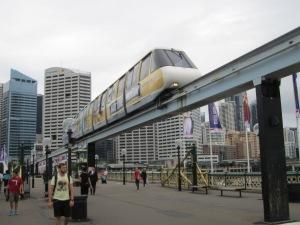 Monorail at Darling Harbour.
