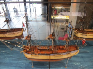 A fleet of 11 British ships - all represented in miniature detail at the Sydney Museum - settled Sydney in 1788, where they established the first penal colony on the continent.