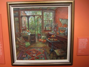 """Margaret Olley painting. She died in 2011 and was quite famous in Australia for her paintings of her home. She received the """"Companion of the Order,"""" from Queen Elizabeth, Great Britain's highest civilian honor."""