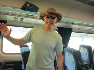 Heading to Brisbane via a choo choo train.