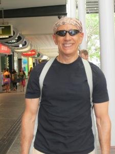 Walking around Brisbane.