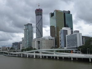 Brisbane city skyline.