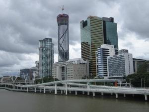 Brisbane city skyline.