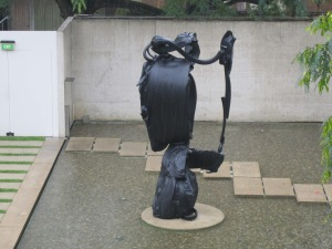 Sculpture located outside Queensland Art Gallery.
