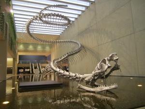 The snake sculpture.