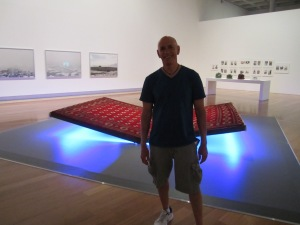 Me and my flying carpet - about ready to take a ride around the Art Gallery.