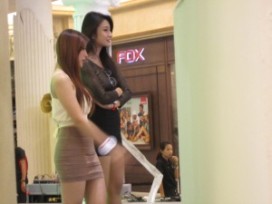 Two models at luxury mall, Terminal 21.