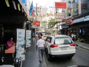 Street scene in Bangkok. This place is busy, busy, busy, rarely an idle moment.