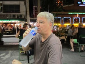Paul hydrating, which is very important here. Ironically, I am acclimated to the humidity now. Having been in New Zealand and Australia - where it is also humid - provided me the necessary acclimation here in Bangkok. It didn't really bother me at all and I hardly sweated here, as I did in in Australia and New Zealand.