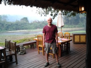 The breakfast was delicious each morning at my hotel. The restaurant has views of the Pai river (the mouth of which is the Salween river). Frequently, you see elephants walking by. Each day, I had fruit, an omelet, hot coffee, various types of fruit juice and fresh bread.
