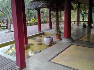 Serene setting at hot springs in Pai.