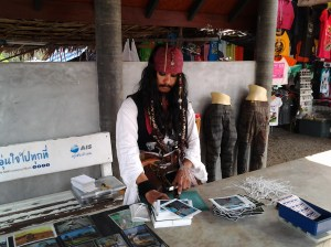 Johnny Depp look-a-like. This guy was Thai, but it was amazing how much he looked like the actor.