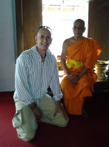 Buddhist monk who allowed me to take a picture with him. Interesting fact - I can ask him questions and hand him items; however, a female is not allowed to do so, i.e., she must use someone else to do to accomplish either.
