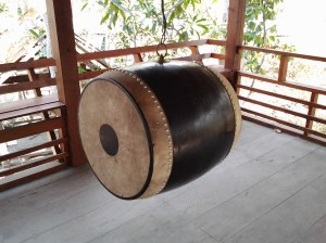 Drum at Mae Yen Temple in Pai.