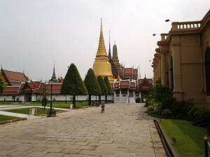 Grand Palace as seen from outside the palace grounds gate.