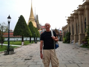 The guy who took this picture was someone that had the same idea I did . . . I am not going to be uncomfortable and fight the hoard of people trying to enter the Grand Palace.