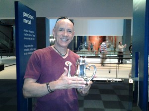 Me holding one of their pewter products.