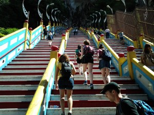 """These 272 steps you must climb if you want to visit and explore the caves. Each step represents a """"sin"""" which will be removed from each person making the ascending trek. Me? I did it twice because I am such a sinner. Grin."""