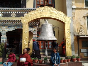 Bell at another temple located near the Bouddha shrine.