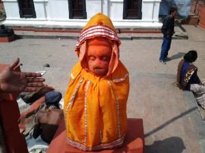 Monkey God statue.