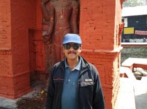 Richard Dvaz, my expert tour guide of the Hindu Pashupatinath Temple.